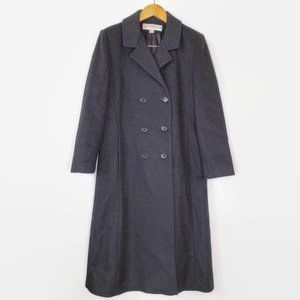 Double Breasted Wool Coat  8 Petite